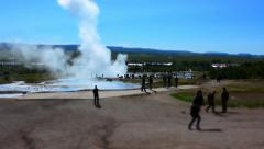 Time lapse of the double eruption of Geysir, the biggest active geyser, Iceland Stock Footage