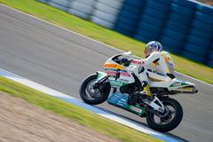 Pilot of motorcycling of supersport in the spanish championship of velocity ( Stock Photos
