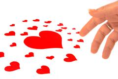 muchos corazones - a lot of hearts - stock photo