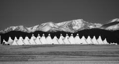 Denver International Airport in Black and White Stock Photos