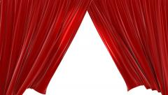 Red Velvet Theater Closing Curtains Stock Footage
