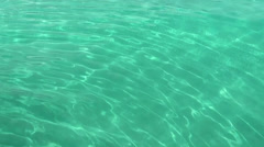 Nassau_019HD, pure turquoise Water Surface of Caribbean Sea Stock Footage