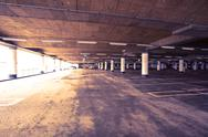 Stock Photo of Parking garage of shopping center