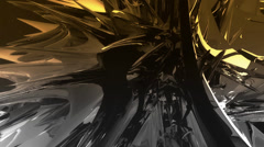 Dynamic abstract metal material.Alloy high-tech science fiction,nanotechnology. - stock footage