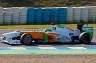Stock Photo of team force.india f1, adrian sutil, 2011