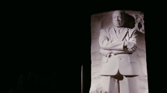 Martin Luther King Memorial Stock Footage