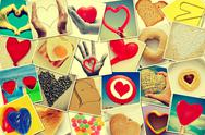 Stock Illustration of hearts collage