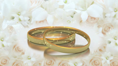 Spinning Wedding Rings Loop - stock footage