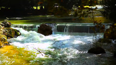 Waterfall of The River Eisbach, Germany, Munich Stock Footage