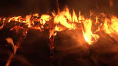 Wooden Deck on Fire Stock Footage