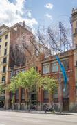 Facade of antoni tapies foundation, in barcelona Stock Photos