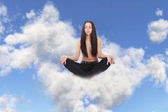 Meditation on a cloud Stock Illustration