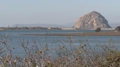 P03169 Morro Rock and Morro Bay California Stock Footage