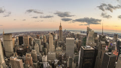 Manhattan Empire State Building New York City in 4K NYC Beautiful Sunset Stock Footage