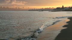 Jericho Beach, Winter Waves, Vancouver Stock Footage