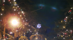 Christmas Illumination Time Lapse -Tilt Down- Stock Footage
