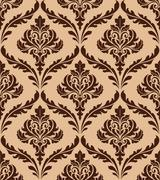 Stock Illustration of floral damask seamless pattern