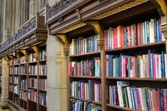 University Library Shelves Stock Photos