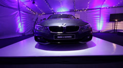 BMW 4 Series front Stock Footage