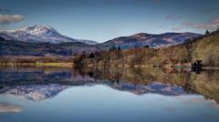 Spectacular Mountain Lake serene scene - stock footage