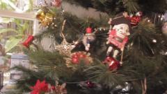 Steady Cam around Christmas Tree Stock Footage
