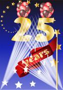 25 years Stock Illustration