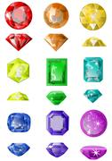 set of precious stones - stock illustration