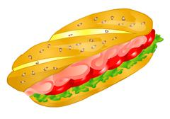 Sandwich Stock Illustration