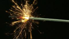Fuse burning. Sparkler Stock Footage