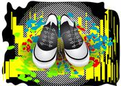 Stock Illustration of gym shoes