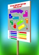 campus map - stock illustration
