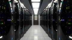 Blackout in server room Stock Footage