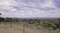 Wide angle pan of a tropical location Stock Footage