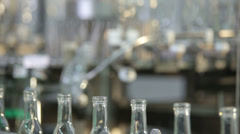 Empty bottles at the plant Stock Footage