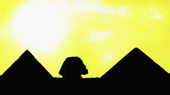 Pyramids & Sphinx day to night timelapse Stock Footage