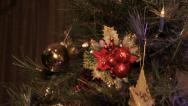 Christmas Tree Close up slide Stock Footage