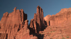Monumental Desert Rock Fisher Towers Moab #2 Stock Footage