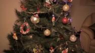 Christmas Tree Tilt Stock Footage