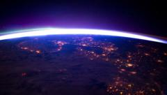 Beautiful view of earth from space 4k Stock Footage