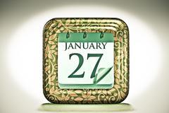 calendar, january month - stock illustration