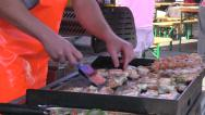 Stock Video Footage of grilled fish