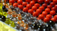 Bead by CU. Stock Footage