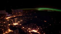 International Space Earth Orbit View ISS East Coast of North America Stock Footage