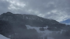 Mountain snow and clouds timelapse FULL HD Stock Footage