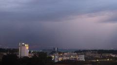 SunSet timelapse city rain moutain FULL HD Stock Footage