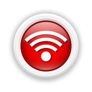 wireless sign icon - stock illustration
