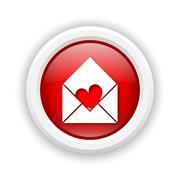 send love icon - stock illustration