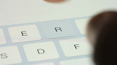 Virtual Keyboard On Tablet Stock Footage