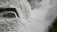 Stock Video Footage of View from above on one of the parts of Gullfoss waterfall, Iceland
