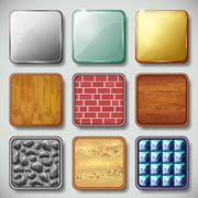 set of different textured apps icons vector - stock illustration